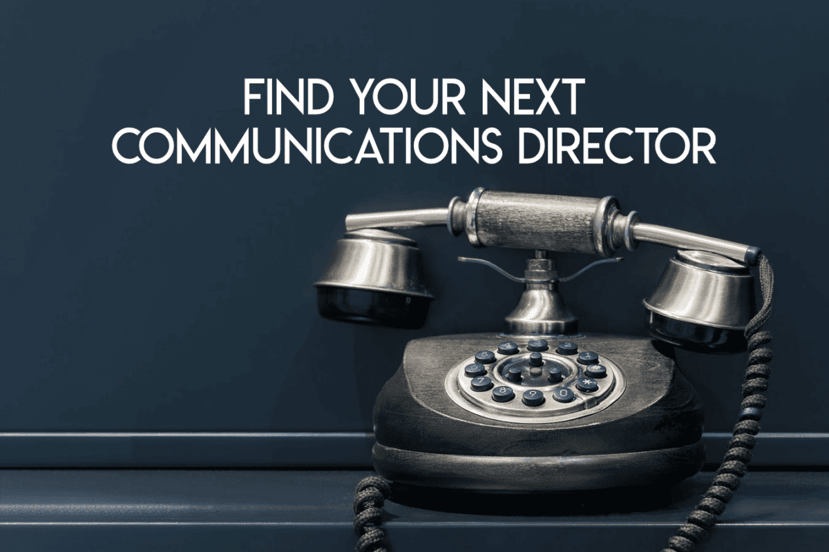 Finding church communications director